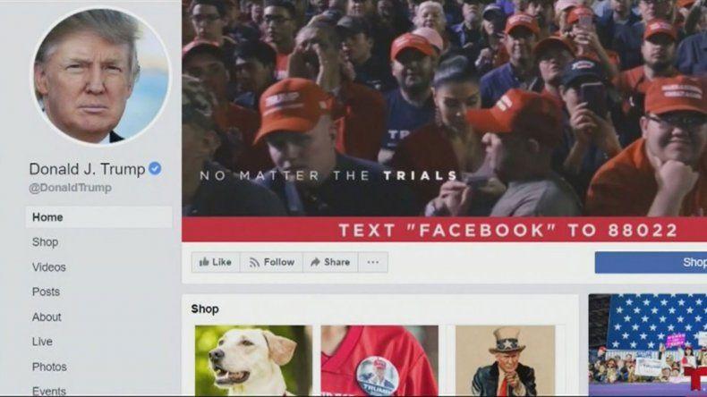 Facebook eliminó un mensaje de campaña de Trump por falso