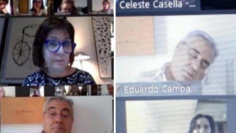 Papelón: un intendente se quedó dormido en plena charla con Patricia Bullrich