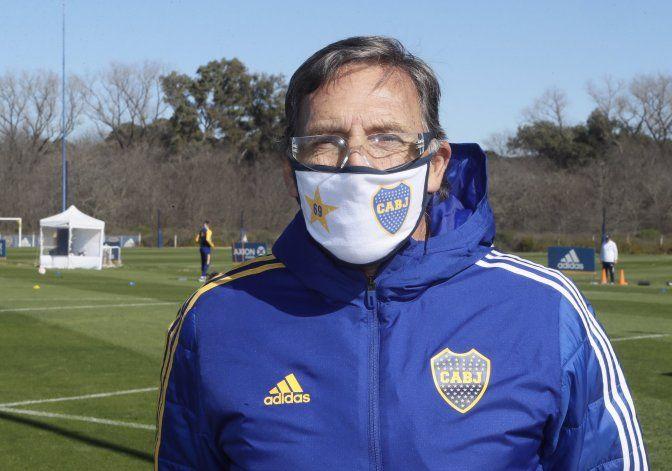 Russo estuvo presente en la vuelta a los entrenamientos.