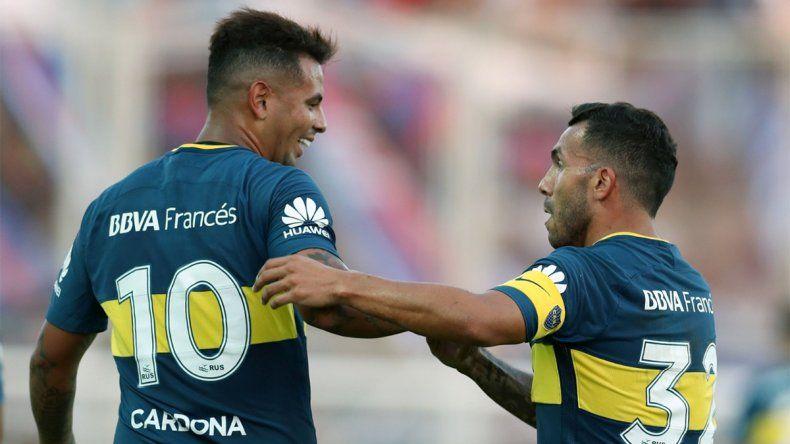 Cardona-Tevez, la dupla que ya vuelve a ilusionar a Boca