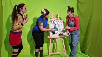 profes de jardines de infantes hacen videos sobre los derechos de los ninos