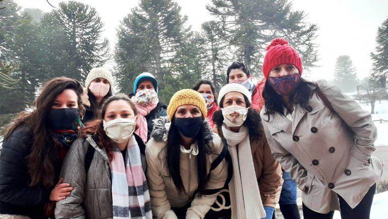 Mujeres de Villa Pehuenia dejan su huella