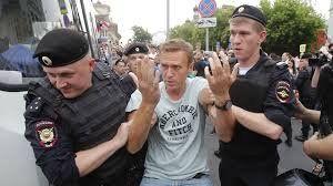 El dirigente opositor Alexei Navalny fue detenido por el gobierno de Putin hace dos años acusado de organizar reuniones no autorizadas.