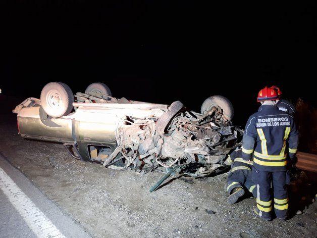 Choque y vuelco en Ruta 40: dos heridos de gravedad