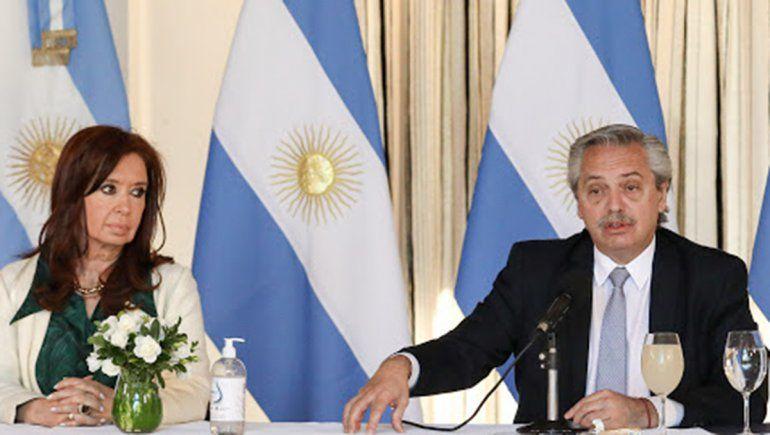 """El Presidente remarcó que con la vicepresidenta """"puede haber matices sobre medidas económicas, pero no hay discusión sobre cuáles son los objetivos""""."""