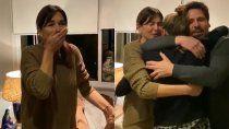 el emotivo video de andrea frigerio: su hija volvio de europa de sorpresa