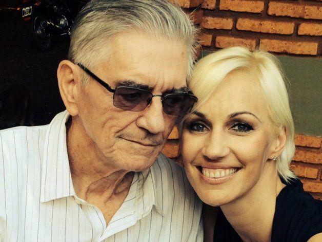 Ingrid Grudke fue a Misiones y le dio el último adiós a su papá