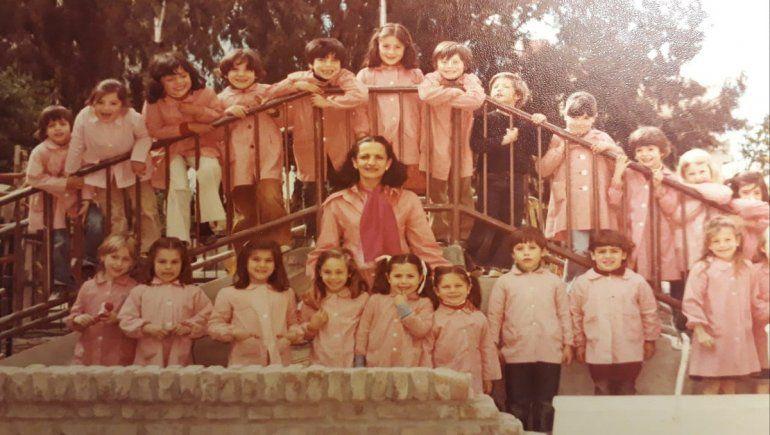 Valeria Malcotti en su paso por el jardín de infantes