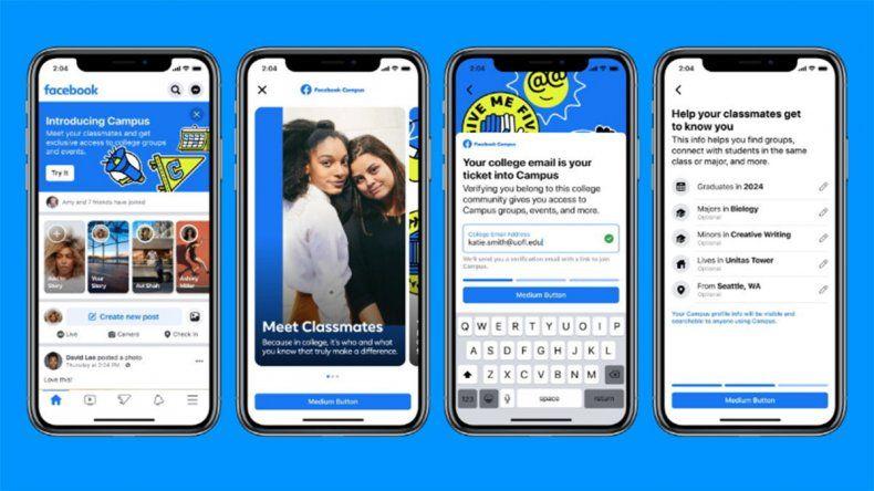 Facebook lanza una red social sólo para universitarios