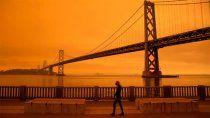 incendios tineron de rojo el cielo de ee.uu.: las imagenes