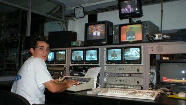 Jorge Edelman en su paso por Canal 7 de Neuquén.