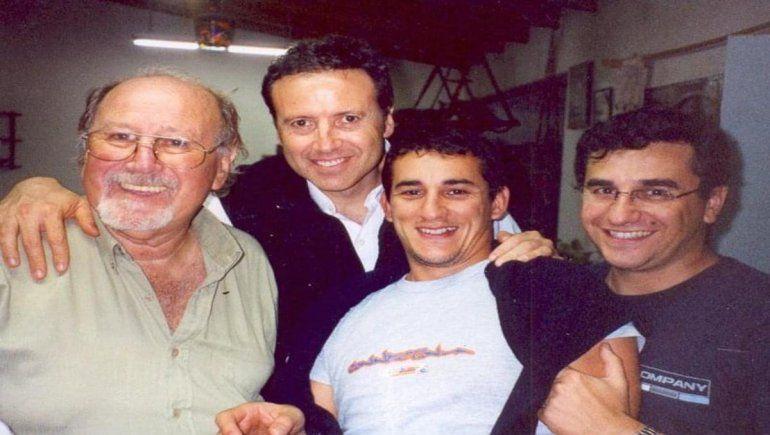 Jorge Edelman, junto a su tío que lo inspiró para abrirse paso en el mundo de los medios.