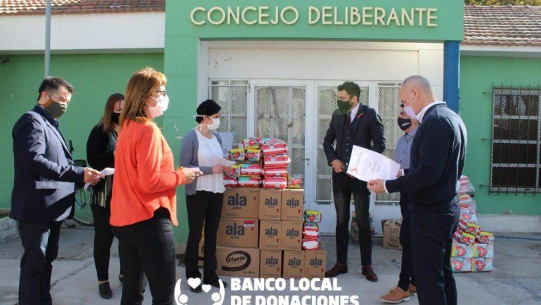 Concejales de Plottier crean un banco de donaciones
