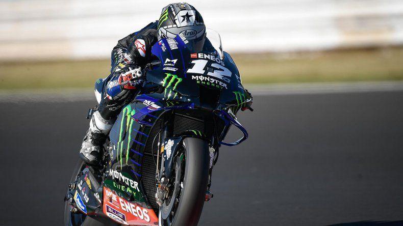 Maverick Viñales fue el más veloz de la clasificación del Moto GP en Misano