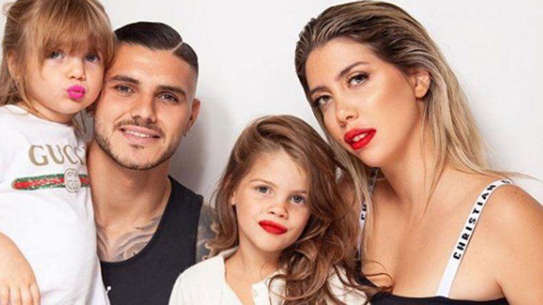 Mauro Icardi se mostró junto a Wanda Nara y sus hijas tras superar el coronavirus