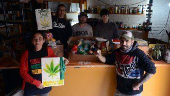 alto valle: semillas de marihuana por comida para un comedor