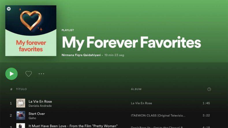 Spotify presenta la nueva función Mis eternos favoritos
