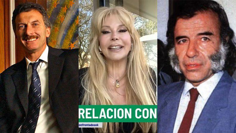 Alfano dio detalles picantes de sus amoríos con Menem y Macri