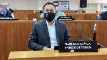marcelo zuniga dio positivo y cierran el concejo deliberante
