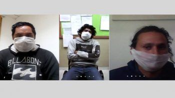 Los acusados: Nicolás Gabriel Rayguan, Javier Alexis Cortez y Luis Miguel Fuentes.