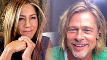 el video del carinoso encuentro de jennifer aniston y brad pitt