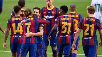 barcelona abrio la temporada con el silencio de messi