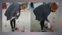 viral: se robaba mas de 20 latas de atun y encima se enojo