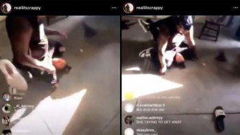 instagram: padre golpeo brutalmente a su hija y lo transmitio