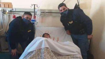 Policías le regalaron una bici a nene víctima de motochorros