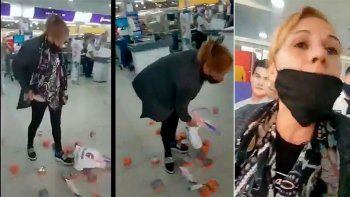 detuvieron a la mujer que quiso robar latas de atun de un super