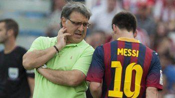 A Martino también le costó llevar las cosas con Messi en el Barcelona.