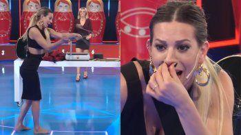 noelia marzol se golpeo la cara con las boleadoras en vivo