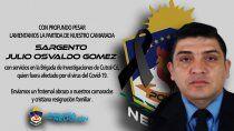 neuquen: hondo pesar por la muerte de un policia con covid