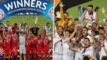 Bayern Munich y Sevilla definen la Supercopa de Europa.