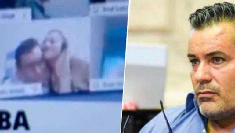 El diputado Juan Ameri renunció tras ser grabado mientras le besaba un seno a su novia en plena sesión virtual de Diputados.