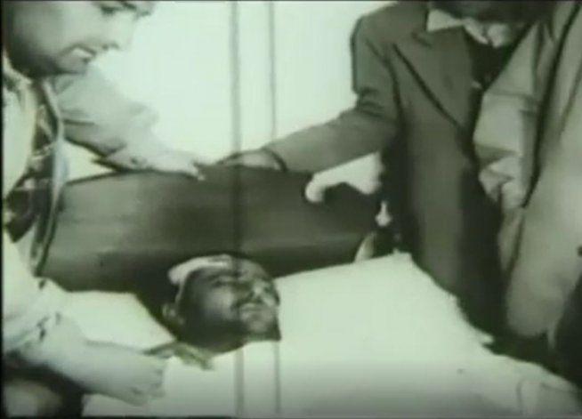 Fangio fue internado, con graves heridas. En el hospital se enteró que su copiloto había muerto.