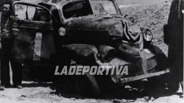 El Chevrolet 1939 con Fangio de piloto cayó en una hondonada en los precarios caminos peruanos de montaña.