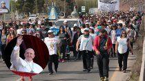 peregrinacion: el mensaje del papa a los vecinos de centenario