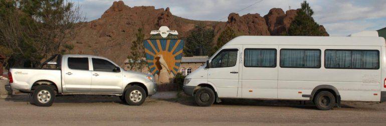 Natalia Tapia tiene vehículos para transportar personal.