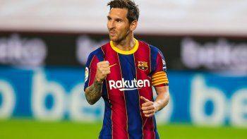 Messi limó asperezas con el Barcelona.