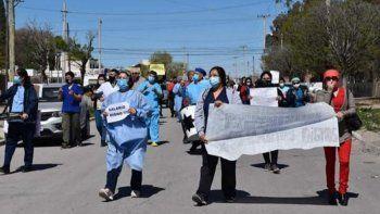 nueva marcha de trabajadores hospitalarios por mejoras salariales
