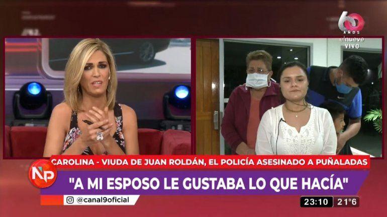 Viviana Canosa entrevistó a la viuda del policía asesinado a cuchillazos en Palermo.