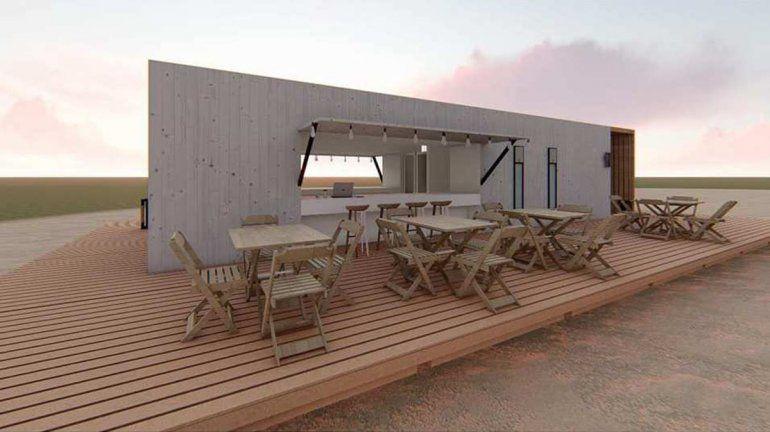 El diseño modular que deberán respetar los paradores que licitará la municipalidad de San Antonio Oeste.
