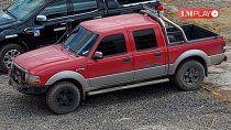 viralizan el robo de una camioneta ford ranger