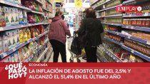 el fol suspendio los cortes, sequia en neuquen y la inflacion de agosto