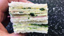 sandwich de miga ideal para despedir el invierno