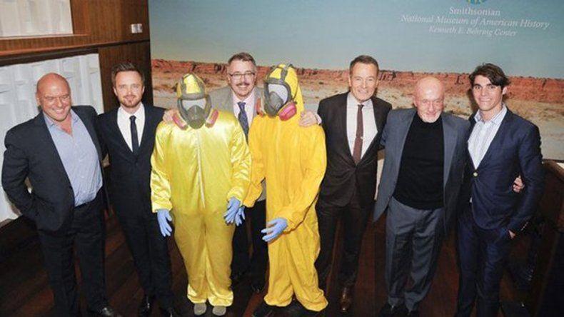El sombrero de Heisenberg y los trajes amarillos son parte del museo.