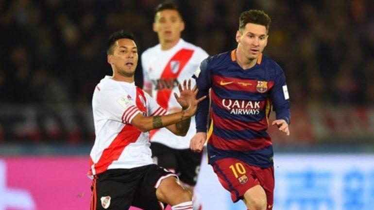 Messi puso el 1 a 0 a los 35 del primer tiempo