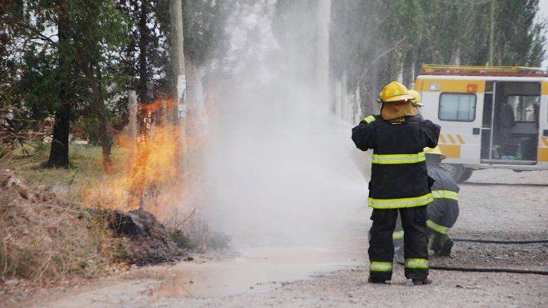 El petardo dañó una extensión de la red y se produjo un incendio. Los bomberos tuvieron que bombear agua por cuatro horas para que no se extendiera.