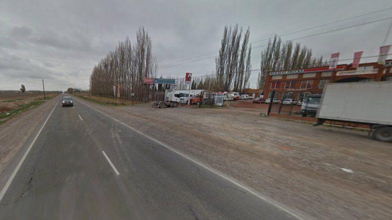 El accidente se produjo en el kilómetro 1198 de la Ruta 22